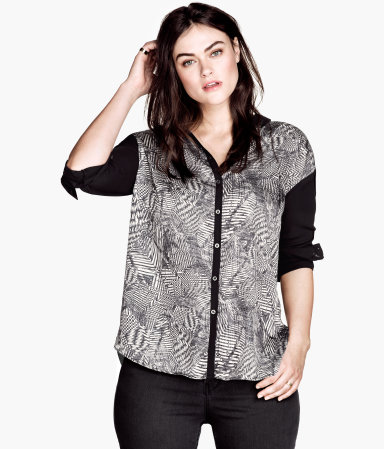 H&M+ Patterned Blouse $34.95