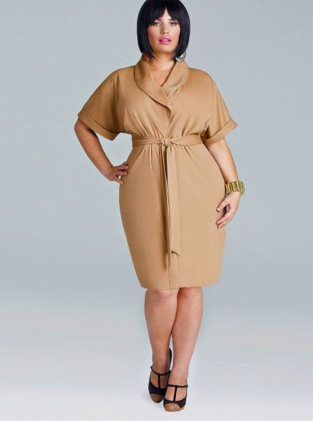 """COBY"" PONTE BUTTON FRONT DRESS - TAN"