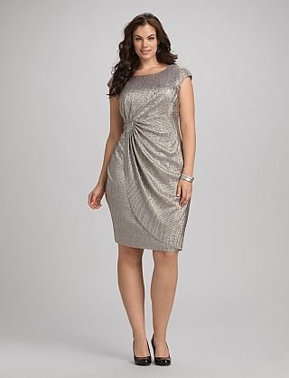 Textured Metallic Dress, $52.00 {here}